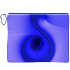 Blue Spiral Note Canvas Cosmetic Bag (xxxl)  by CrypticFragmentsDesign