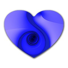 Blue Spiral Note Heart Mousepads by CrypticFragmentsDesign