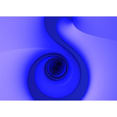 Blue Spiral Note Birthday Cake 3d Greeting Card (7x5)