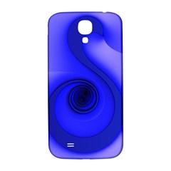 Blue Spiral Note Samsung Galaxy S4 I9500/i9505  Hardshell Back Case by CrypticFragmentsDesign