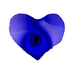 Blue Spiral Note Standard 16  Premium Flano Heart Shape Cushions by CrypticFragmentsDesign