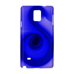 Blue Spiral Note Samsung Galaxy Note 4 Hardshell Case by CrypticFragmentsDesign