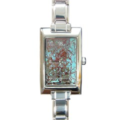 Urban Graffiti Grunge Look Rectangle Italian Charm Watch by CrypticFragmentsDesign