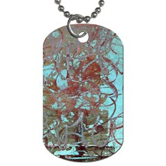 Urban Graffiti Grunge Look Dog Tag (two Sides) by CrypticFragmentsDesign