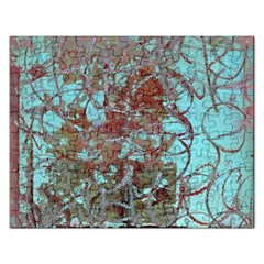 Urban Graffiti Grunge Look Rectangular Jigsaw Puzzl by CrypticFragmentsDesign