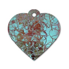 Urban Graffiti Grunge Look Dog Tag Heart (one Side) by CrypticFragmentsDesign