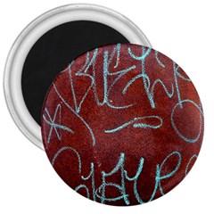Urban Graffiti Rust Grunge Texture Background 3  Magnets by CrypticFragmentsDesign