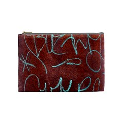 Urban Graffiti Rust Grunge Texture Background Cosmetic Bag (medium)  by CrypticFragmentsDesign