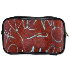 Urban Graffiti Rust Grunge Texture Background Toiletries Bags 2 Side by CrypticFragmentsDesign