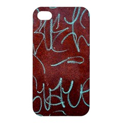 Urban Graffiti Rust Grunge Texture Background Apple Iphone 4/4s Hardshell Case by CrypticFragmentsDesign