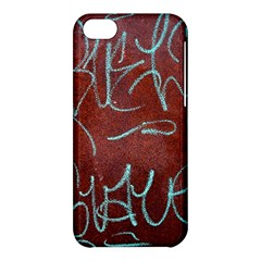 Urban Graffiti Rust Grunge Texture Background Apple Iphone 5c Hardshell Case by CrypticFragmentsDesign