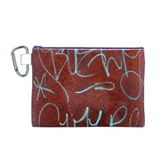 Urban Graffiti Rust Grunge Texture Background Canvas Cosmetic Bag (m) by CrypticFragmentsDesign