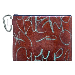 Urban Graffiti Rust Grunge Texture Background Canvas Cosmetic Bag (xxl)  by CrypticFragmentsDesign