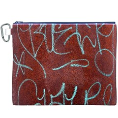 Urban Graffiti Rust Grunge Texture Background Canvas Cosmetic Bag (XXXL)  by CrypticFragmentsDesign