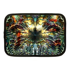 Metallic Abstract Flower Copper Patina Netbook Case (medium)  by CrypticFragmentsDesign