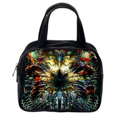 Metallic Abstract Flower Copper Patina Classic Handbags (one Side) by CrypticFragmentsDesign