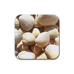 Tropical Exotic Sea Shells Rubber Coaster (square)  by yoursparklingshop