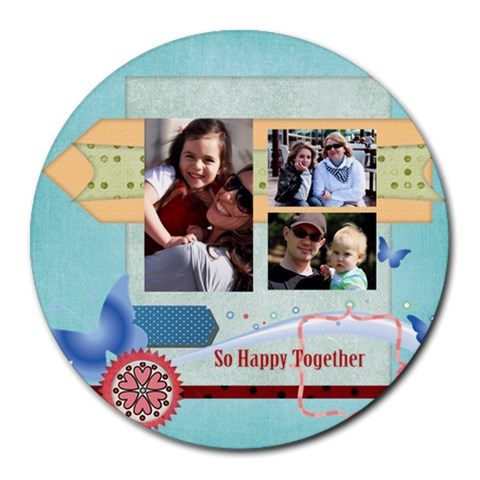 Family By Family   Round Mousepad   Krh0ogjmu20y   Www Artscow Com Front