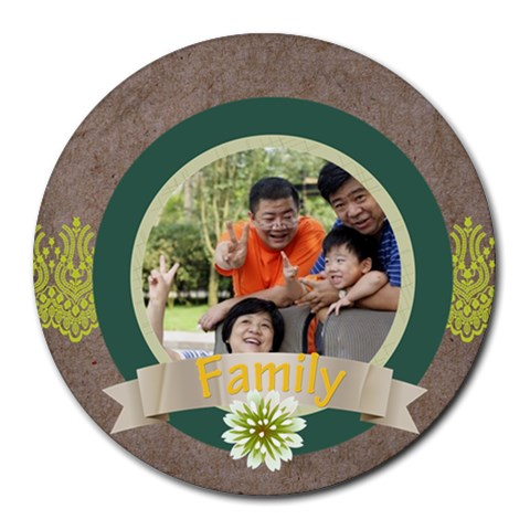 Family By Family   Round Mousepad   Gg5rhrm3hnuy   Www Artscow Com Front