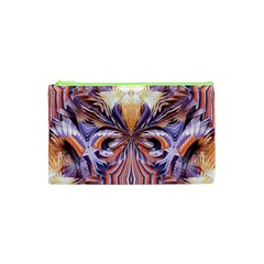 Fire Goddess Abstract Modern Digital Art  Cosmetic Bag (xs) by CrypticFragmentsDesign
