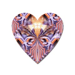 Fire Goddess Abstract Modern Digital Art  Heart Magnet by CrypticFragmentsDesign
