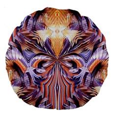 Fire Goddess Abstract Modern Digital Art  Large 18  Premium Round Cushions by CrypticFragmentsDesign
