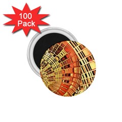 Semi Circles Abstract Geometric Modern Art Orange 1 75  Magnets (100 Pack)  by CrypticFragmentsDesign