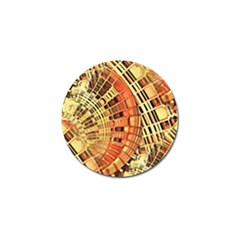 Semi Circles Abstract Geometric Modern Art Orange Golf Ball Marker by CrypticFragmentsDesign