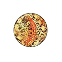 Semi Circles Abstract Geometric Modern Art Orange Hat Clip Ball Marker (4 Pack) by CrypticFragmentsDesign