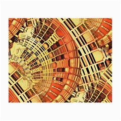 Semi Circles Abstract Geometric Modern Art Orange Small Glasses Cloth by CrypticFragmentsDesign