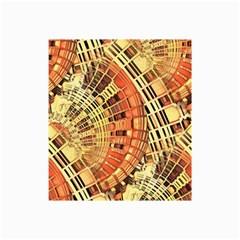 Semi Circles Abstract Geometric Modern Art Orange Collage 12  X 18  by CrypticFragmentsDesign