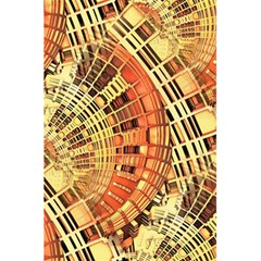 Semi Circles Abstract Geometric Modern Art Orange 5 5  X 8 5  Notebooks by CrypticFragmentsDesign