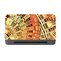 Semi Circles Abstract Geometric Modern Art Orange Memory Card Reader With Cf by CrypticFragmentsDesign