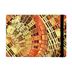 Semi Circles Abstract Geometric Modern Art Orange Apple Ipad Mini Flip Case by CrypticFragmentsDesign