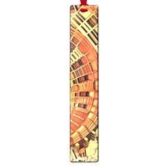 Semi Circles Abstract Geometric Modern Art Orange Large Book Marks by CrypticFragmentsDesign