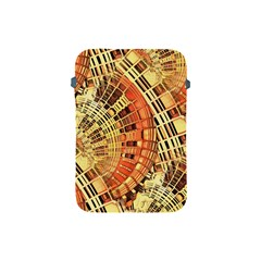 Semi Circles Abstract Geometric Modern Art Orange Apple Ipad Mini Protective Soft Cases by CrypticFragmentsDesign