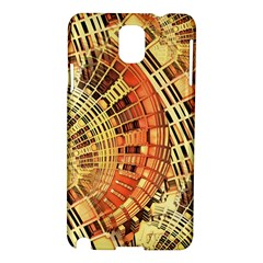Semi Circles Abstract Geometric Modern Art Orange Samsung Galaxy Note 3 N9005 Hardshell Case by CrypticFragmentsDesign