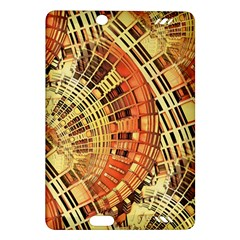 Semi Circles Abstract Geometric Modern Art Orange Amazon Kindle Fire Hd (2013) Hardshell Case by CrypticFragmentsDesign