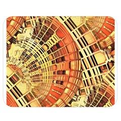 Semi Circles Abstract Geometric Modern Art Orange Double Sided Flano Blanket (medium)  by CrypticFragmentsDesign