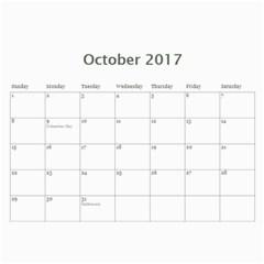 2017 Calendar By P Wells   Wall Calendar 11  X 8 5  (12 Months)   Ommli7bi1ux4   Www Artscow Com Oct 2017