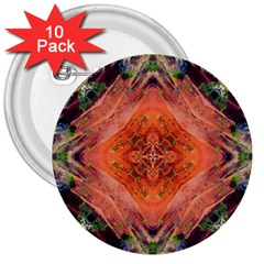 Boho Bohemian Hippie Floral Abstract Faded  3  Buttons (10 Pack)  by CrypticFragmentsDesign