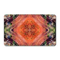 Boho Bohemian Hippie Floral Abstract Faded  Magnet (rectangular) by CrypticFragmentsDesign