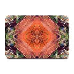 Boho Bohemian Hippie Floral Abstract Faded  Plate Mats by CrypticFragmentsDesign