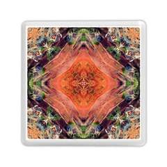 Boho Bohemian Hippie Floral Abstract Faded  Memory Card Reader (square)  by CrypticFragmentsDesign