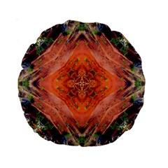 Boho Bohemian Hippie Floral Abstract Faded  Standard 15  Premium Round Cushions by CrypticFragmentsDesign