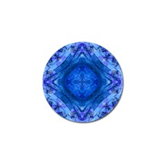 Boho Bohemian Hippie Tie Dye Cobalt Golf Ball Marker by CrypticFragmentsDesign
