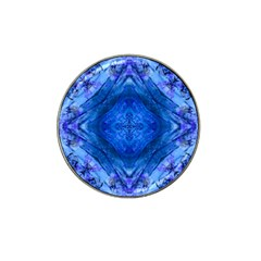 Boho Bohemian Hippie Tie Dye Cobalt Hat Clip Ball Marker (10 Pack) by CrypticFragmentsDesign