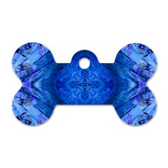 Boho Bohemian Hippie Tie Dye Cobalt Dog Tag Bone (two Sides) by CrypticFragmentsDesign