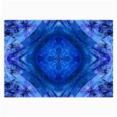 Boho Bohemian Hippie Tie Dye Cobalt Large Glasses Cloth by CrypticFragmentsDesign