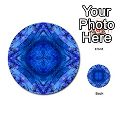 Boho Bohemian Hippie Tie Dye Cobalt Multi Purpose Cards (round)  by CrypticFragmentsDesign